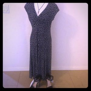 Jones Wear Dress Black & White Midi Dress - 12